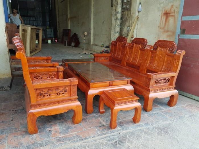 Bộ bàn ghế âu á như ý voi tay đặc gỗ hương đá1