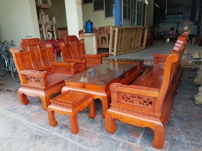 Bộ bàn ghế âu á như ý voi tay đặc gỗ hương đá0