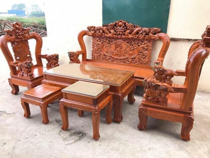 Bộ bàn ghế rồng phượng,rồng mai gỗ hương đá13
