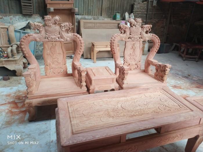 Bộ bàn ghế rồng phượng,rồng mai gỗ hương đá3