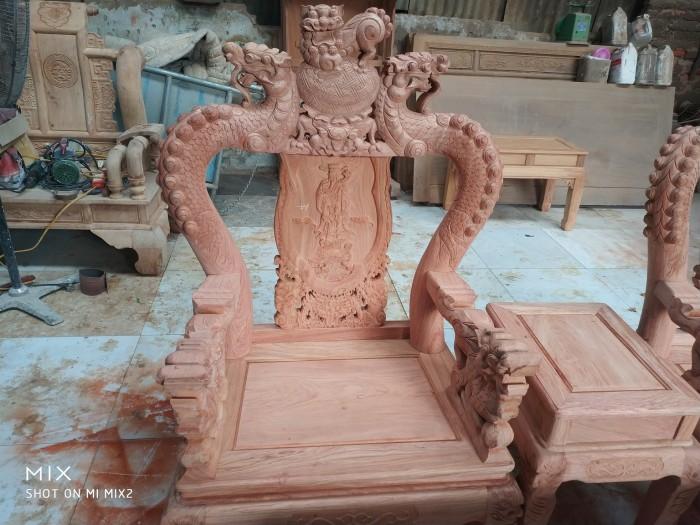 Bộ bàn ghế rồng phượng,rồng mai gỗ hương đá8