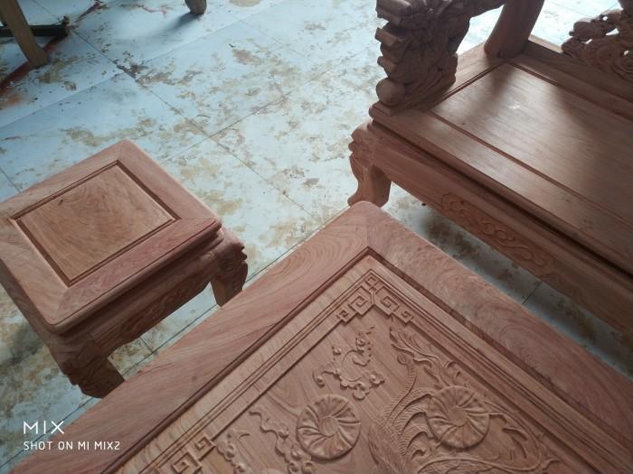 Bộ bàn ghế rồng phượng,rồng mai gỗ hương đá9