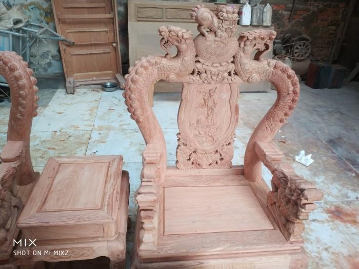 Bộ bàn ghế rồng phượng,rồng mai gỗ hương đá7