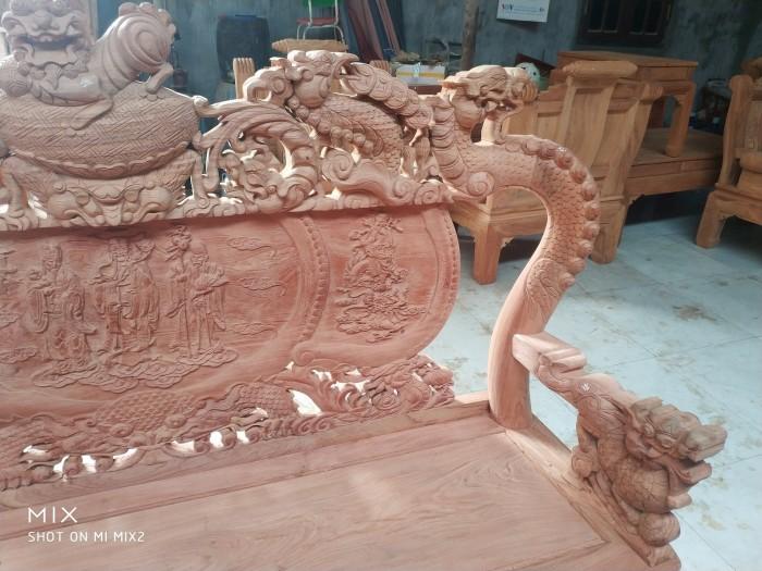 Bộ bàn ghế rồng phượng,rồng mai gỗ hương đá1