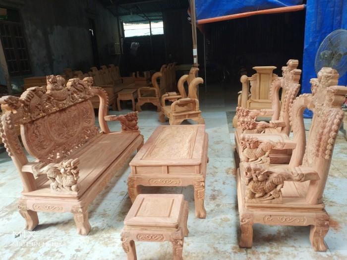 Bộ bàn ghế rồng phượng,rồng mai gỗ hương đá2