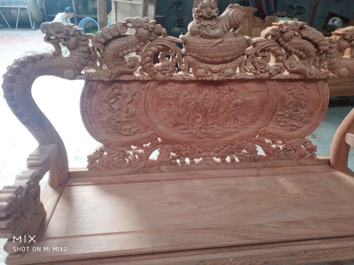 Bộ bàn ghế rồng phượng,rồng mai gỗ hương đá0