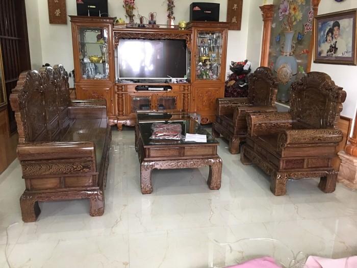 Bộ bàn ghế khổng tử gỗ mun đuôi công13