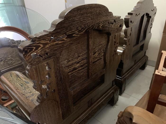Bộ bàn ghế khổng tử gỗ mun đuôi công7