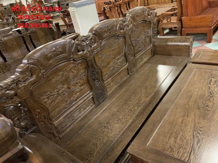 Bộ bàn ghế khổng tử gỗ mun đuôi công12