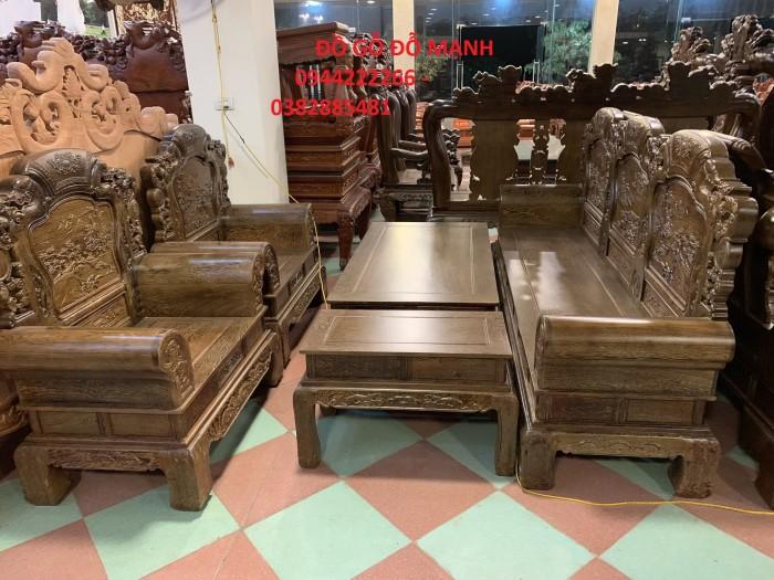 Bộ bàn ghế khổng tử gỗ mun đuôi công11
