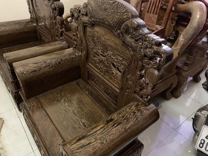 Bộ bàn ghế khổng tử gỗ mun đuôi công10
