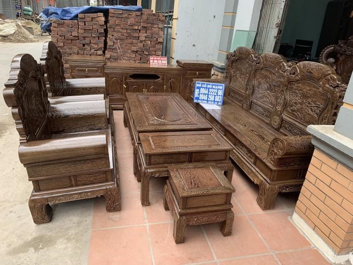 Bộ bàn ghế khổng tử gỗ mun đuôi công8