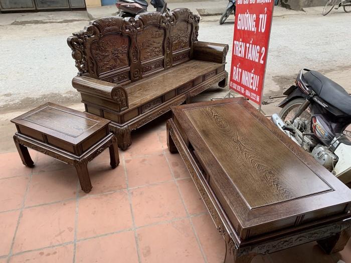 Bộ bàn ghế khổng tử gỗ mun đuôi công0