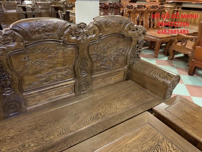Bộ bàn ghế khổng tử gỗ mun đuôi công5