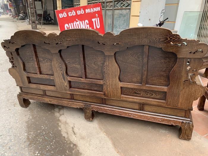 Bộ bàn ghế khổng tử gỗ mun đuôi công3