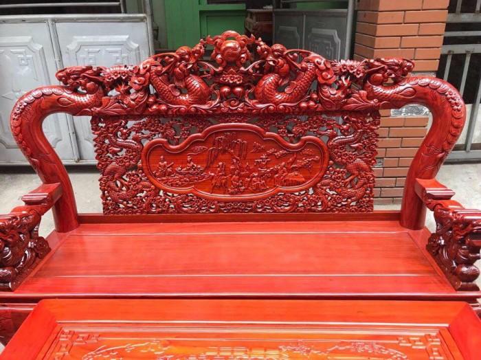Bộ bàn ghế rồng mai gỗ hương đỏ nam phi0
