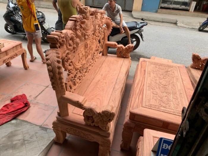 Bộ bàn ghế giả cổ nghê khuỳnh gỗ hương đá8
