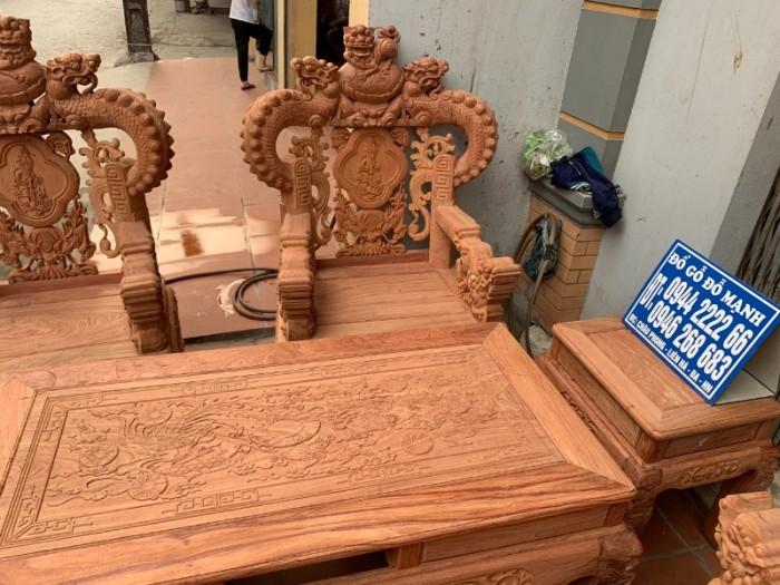 Bộ bàn ghế giả cổ nghê khuỳnh gỗ hương đá15