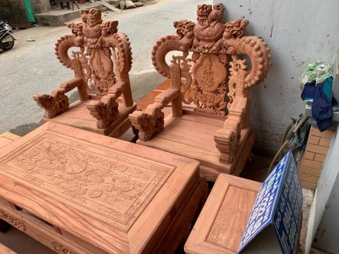 Bộ bàn ghế giả cổ nghê khuỳnh gỗ hương đá17