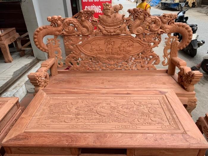 Bộ bàn ghế giả cổ nghê khuỳnh gỗ hương đá13