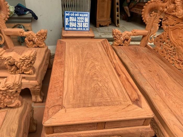 Bộ bàn ghế giả cổ nghê khuỳnh gỗ hương đá14