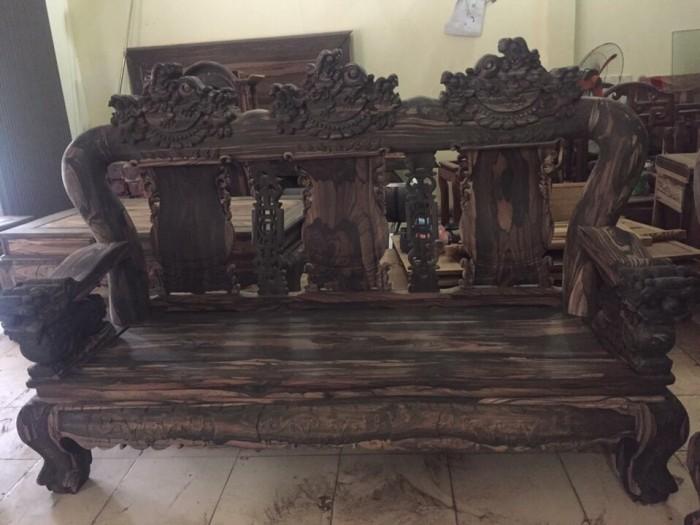 Bộ bàn ghế nghê đỉnh gỗ mun lào15