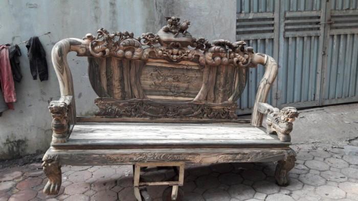 Bộ bàn ghế nghê đỉnh gỗ mun lào16