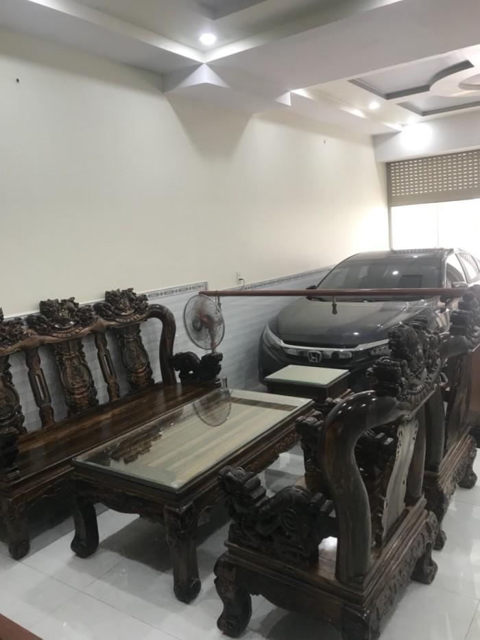 Bộ bàn ghế nghê đỉnh gỗ mun lào2
