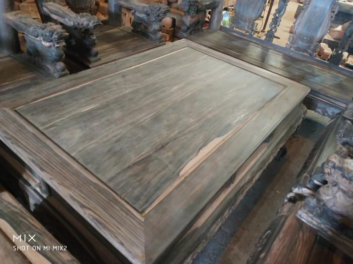 Bộ bàn ghế nghê đỉnh gỗ mun lào12