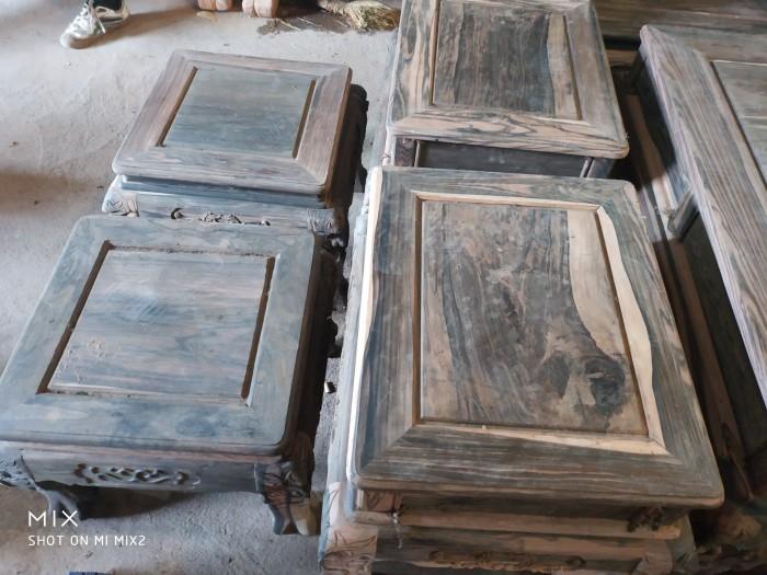 Bộ bàn ghế nghê đỉnh gỗ mun lào10