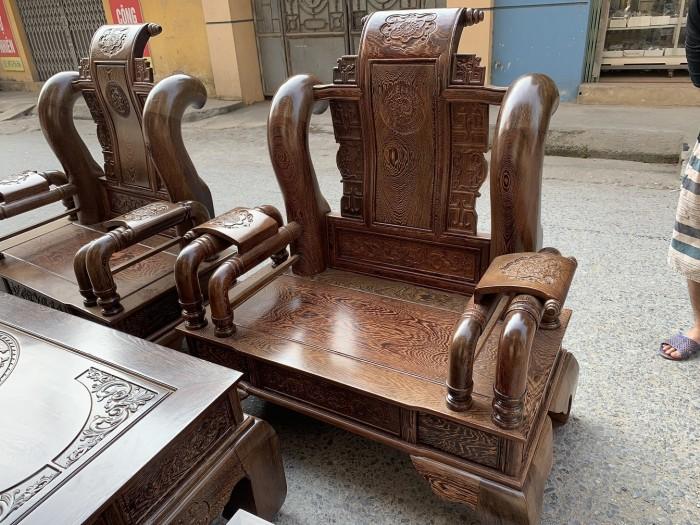 Bộ bàn ghế tần thủy hoàng gỗ mun đuôi công Cột 141