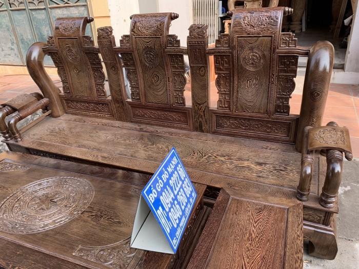 Bộ bàn ghế tần thủy hoàng gỗ mun đuôi công Cột 145