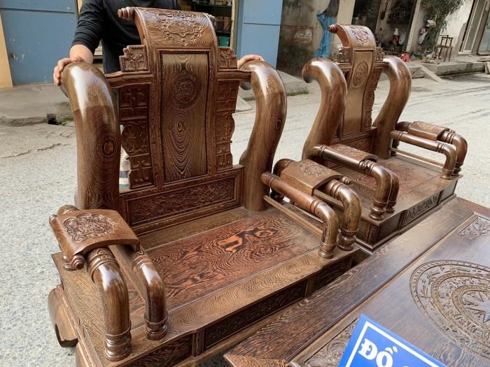 Bộ bàn ghế tần thủy hoàng gỗ mun đuôi công Cột 143