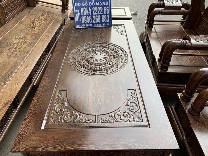 Bộ bàn ghế tần thủy hoàng gỗ mun đuôi công Cột 146