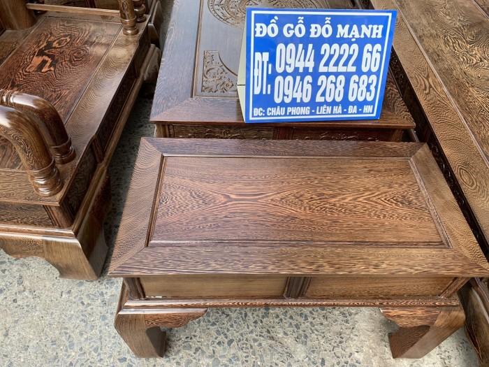 Bộ bàn ghế tần thủy hoàng gỗ mun đuôi công Cột 144