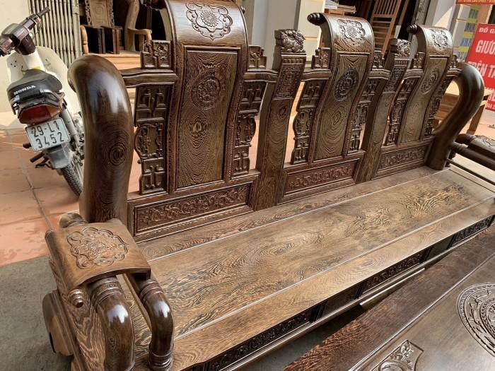 Bộ bàn ghế tần thủy hoàng gỗ mun đuôi công Cột 140