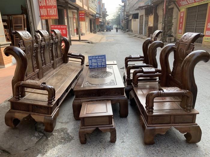 Bộ bàn ghế tần thủy hoàng gỗ mun đuôi công Cột 147