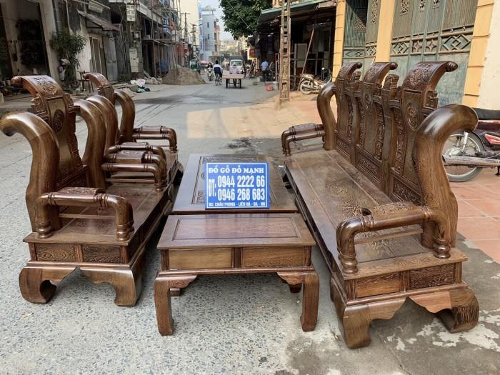 Bộ bàn ghế tần thủy hoàng gỗ mun đuôi công Cột 142