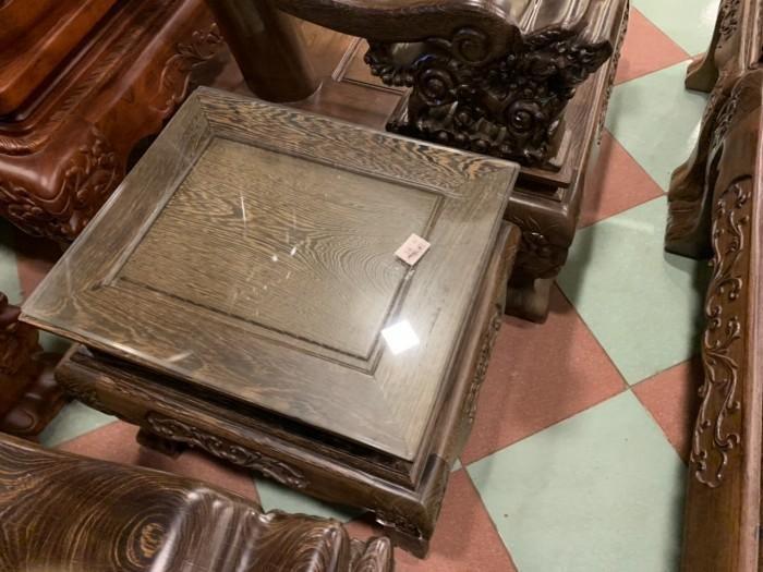 Bộ bàn ghế nghê 3 đầu gỗ mun đuôi công - tay 14 , tay 1613