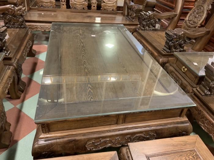Bộ bàn ghế nghê 3 đầu gỗ mun đuôi công - tay 14 , tay 1614