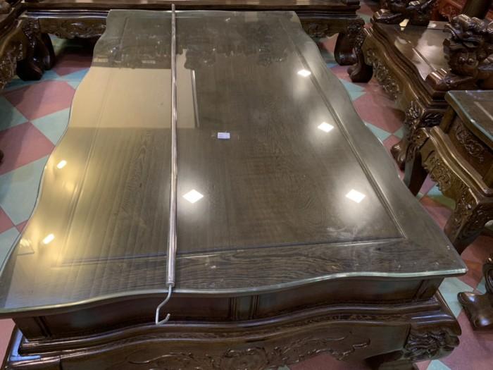 Bộ bàn ghế nghê 3 đầu gỗ mun đuôi công - tay 14 , tay 166