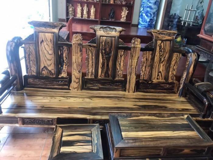 Bộ bàn ghế tần thủy hoàng gỗ mun lào2