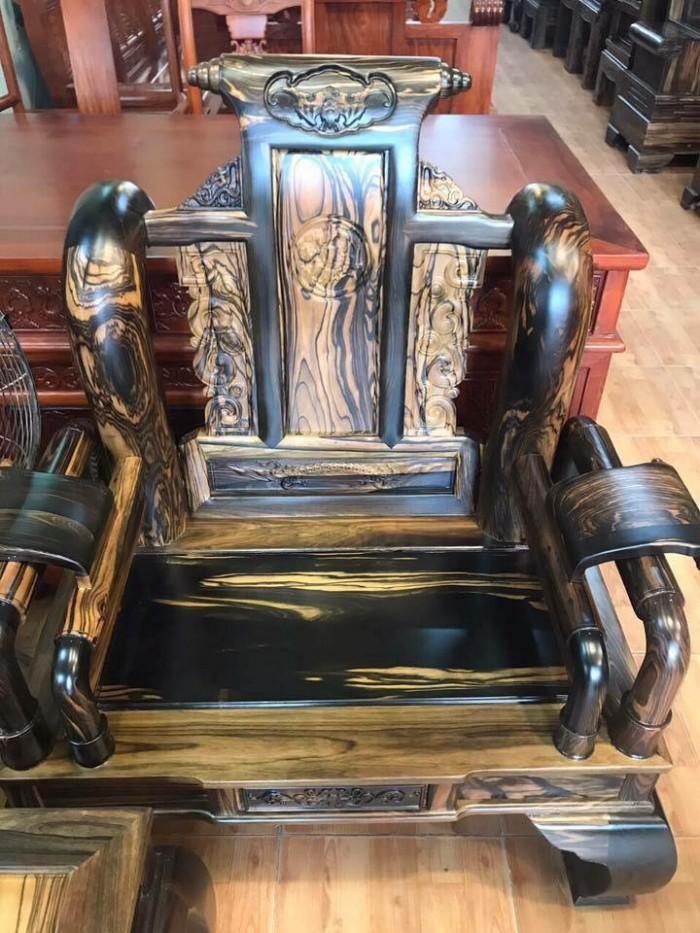 Bộ bàn ghế tần thủy hoàng gỗ mun lào1