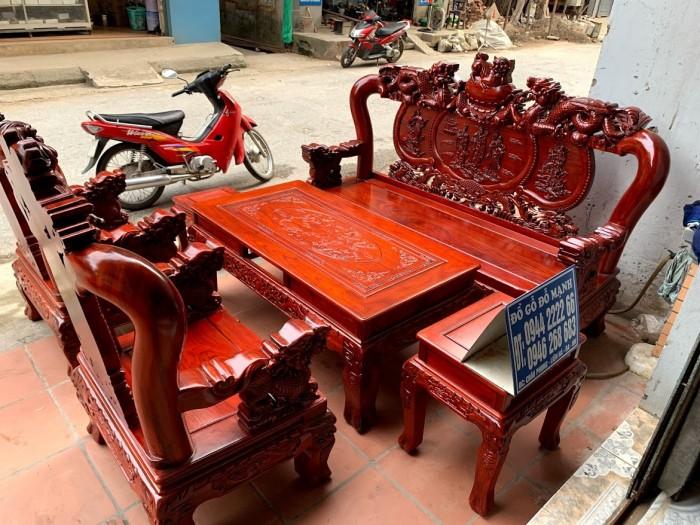 Bộ bàn ghế nghê đỉnh gỗ hương đỏ nam phi24