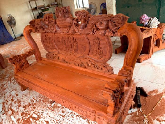 Bộ bàn ghế nghê đỉnh gỗ hương đỏ nam phi23