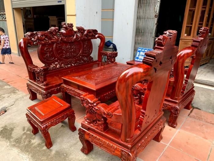 Bộ bàn ghế nghê đỉnh gỗ hương đỏ nam phi22