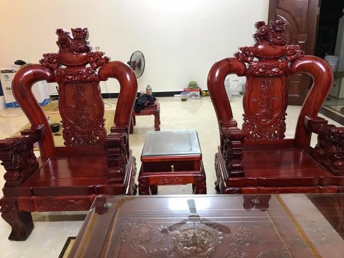 Bộ bàn ghế nghê đỉnh gỗ hương đỏ nam phi14