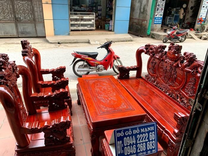 Bộ bàn ghế nghê đỉnh gỗ hương đỏ nam phi15
