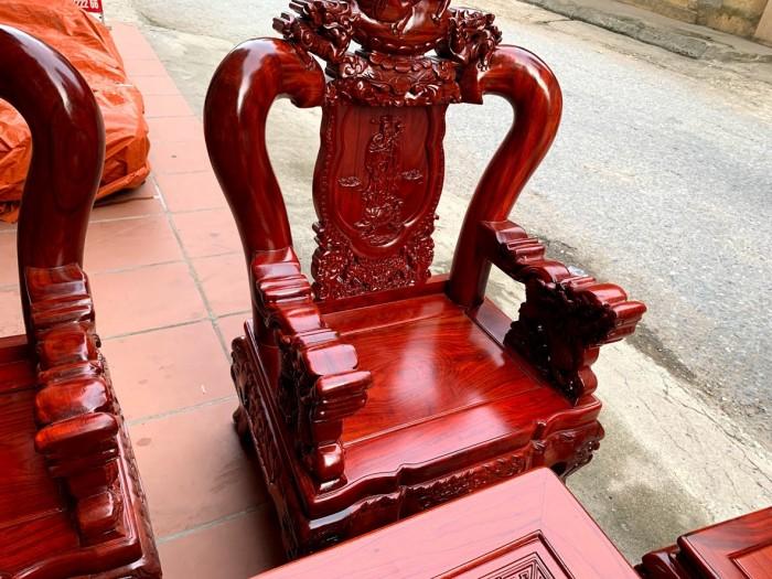 Bộ bàn ghế nghê đỉnh gỗ hương đỏ nam phi16