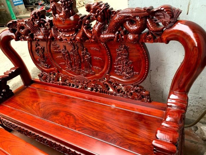 Bộ bàn ghế nghê đỉnh gỗ hương đỏ nam phi20